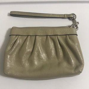 Coach Women's Leather Pleated Wrislet